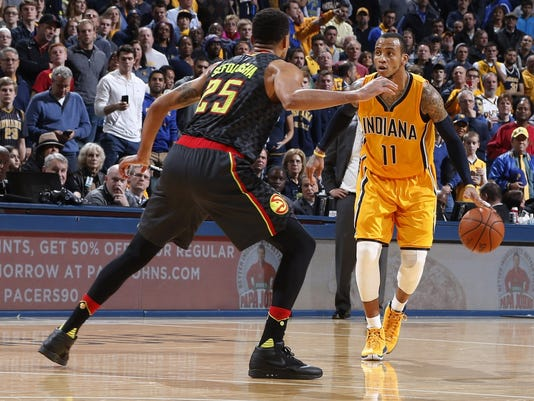 Hawks end 6-game win-streak, falling to Pacers Monday night