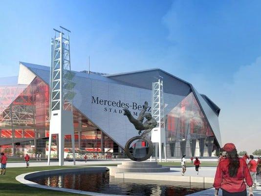 Atlanta to host 2018 college football national for Hotels near mercedes benz stadium atlanta