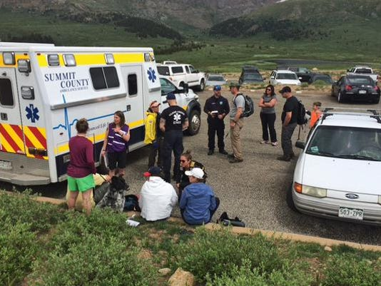 sheriff colo hikers hit by lightning dog killed