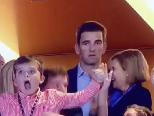 this was eli mannings face when his brother won the super