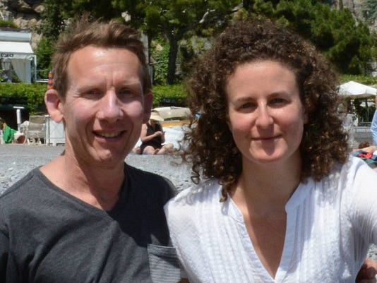 Jessica Colker with her husband Brian Melito