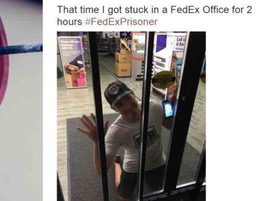 Man Says He Was Stuck Inside Fedex Store For Hours