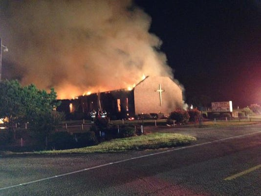 Heavy fire' burns AME church in South Carolina