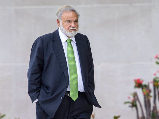 Dr. Salomon Melgen, shown at a Florida courthouse in March, is part of the case against Sen. Bob Menendez. In a separate case, Melgen was convicted of Medicare fraud and is due to be sentenced Friday.