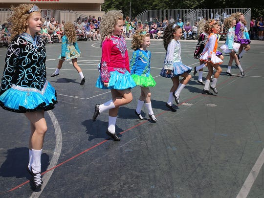 Members of the Cashel Dennehy School of Irish Dance show off their skills at Irish Fest in 2015.