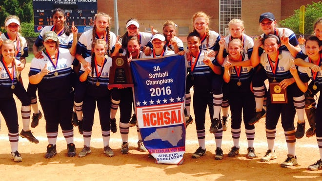 Enka softball repeated as NCHSAA 3-A champions on Saturday at UNC Greensboro.