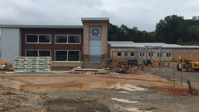 The next Dickson Elementary School building is shown under construction in this November photo.