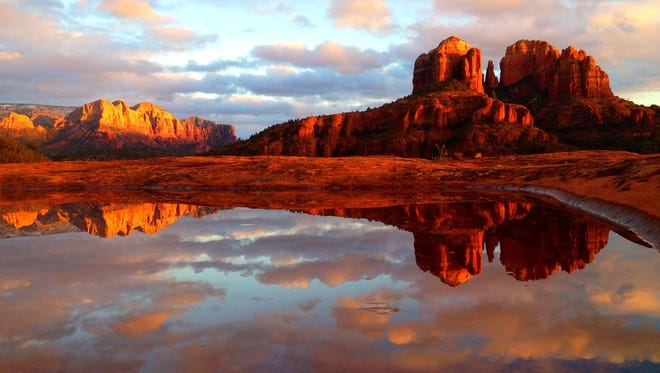 There's no mistaking the red rocks of Sedona. Nancy Claire of Sedona made double the beauty with this reflective moment. See more of her photos at instagram.com/nclairej.