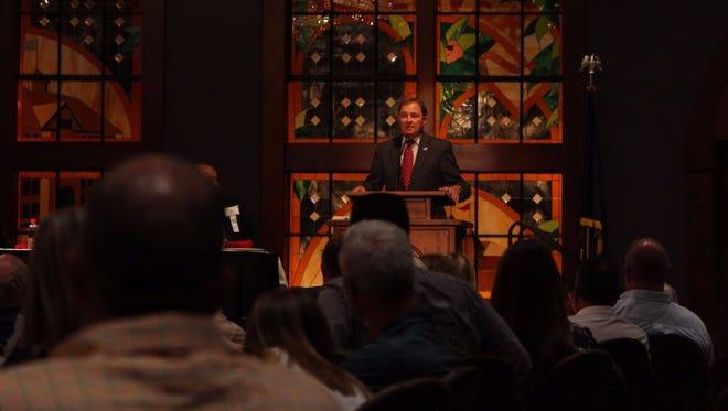 Gov. Gary Herbert speaks at the Rural Summit at Southern Utah University, Thursday, Aug. 3, 2017.