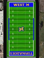 An artist's rendering of the new field markings on the proposed synthetic field for West Muskingum High School.