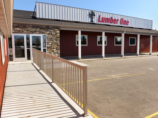 Lumber One is almost finished expanding and remodeling its showroom and retail area. The building is shown Tuesday, March 21, in Avon.