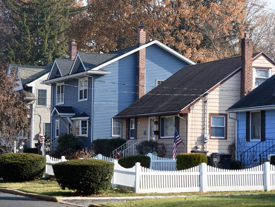 A row of homes on New York Avenue.