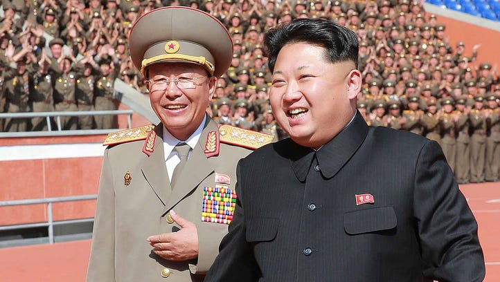 This undated file photo released by North Korea's official