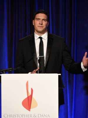 Will Reeve speaks on stage during the 2015  Christopher & Dana Reeve Foundation Gala.