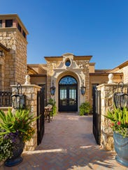 The entryway of this Italian provincial estate has