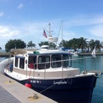 Loophole, tied up in Boca Chita Key National Park in Florida, is a 25-foot Ranger Tug. It completed the loop in July 2015 with its crew, Kurt and Mary Ellen Kettelhut.