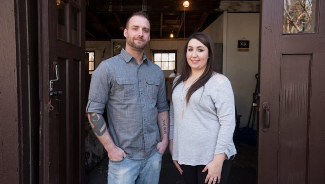 Shelby Dersa and her husband Brian Dersa opened a new up-cycled furniture store in Port Huron.
