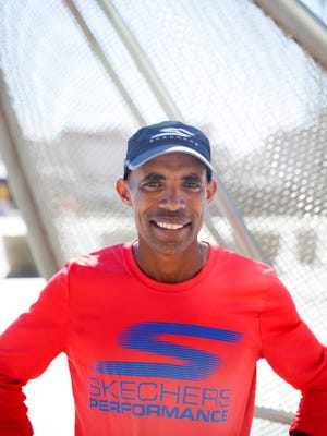 Meb Keflezighi ran the six-mile loop that will be part of the course for the 2016 Olympic trials marathon in Los Angeles.