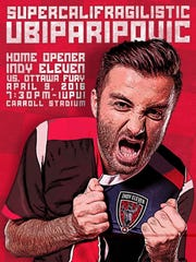 The Brickyard Battalion's poster for the Indy Eleven's