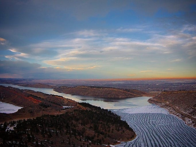 Jr Silva sent in this shot of a drone's view of Horsetooth