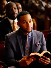"Tye White in a scene from the OWN network original drama series ""Greenleaf"" premiering in June 2016."