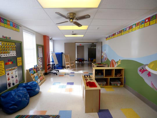 A preschool classroom inside the new Preschool Academy