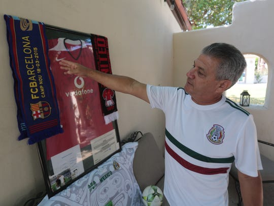 Soccer fanatic Juan Perezchica at his Cathedral City