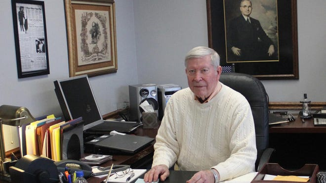 The City Hall office of Independence Mayor Don Reimal is adorned with Truman memorabilia. Reimal is retiring after eight years as mayor and, before that, 12 years as a City Council member. | Jeff Fox/The Examiner