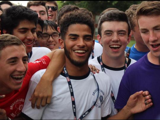 Polanco (center) became a student liaison to the Clifton