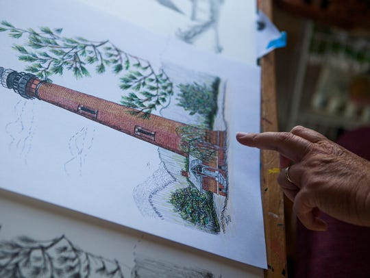 Middlebrook artist Alice Hailey-Stout describes the