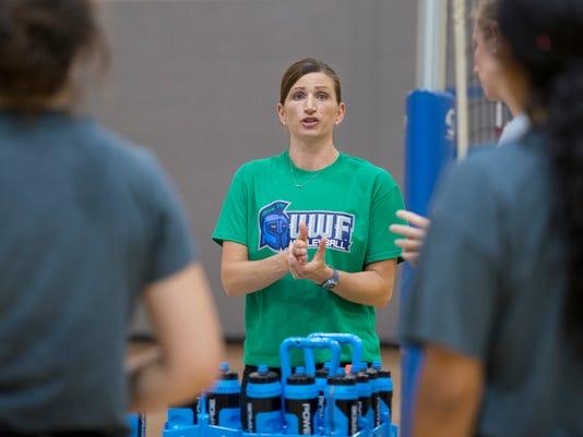 UWF volleyball practice
