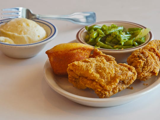 Franco's fried chicken is a specialty of the house,