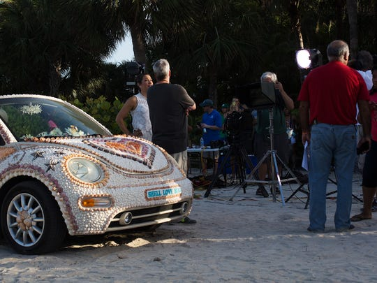 The Shell Love Bug was unveiled on June 19, 2016 on National Seashell Day on Sanibel Island. The Lee County Visitor and Convention Bureau sponsored the event.  Pam Rambo along with volunteers glued the shells to the car. Rambo claims the county promised to give her the car. Her company has sued Lee County in U.S. District Court. She also claims that by continuing to display the vehicle in public, the county has violated her copyright on the design. The News-Press tried to get acces to the car to get photos of what it looks like in 2018 but was denied. In an email written by Lee County Spokersperson Betsy Clayton. Per the County Attorney's Office, we are not able to accommodate your request. The car is covered and is not available for public or media inspection at this time since the design of the shells attached to the car is involved in a copyright lawsuit.