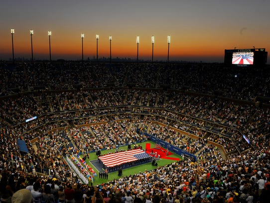 2013-8-20 this is the us open flag at center court