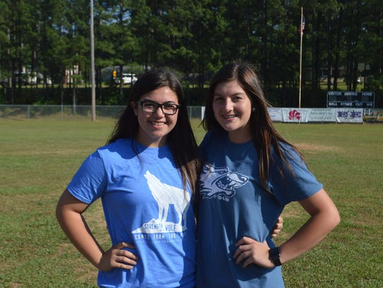 Grant catcher Kelsey Mobley (left) and pitcher Kaytlon