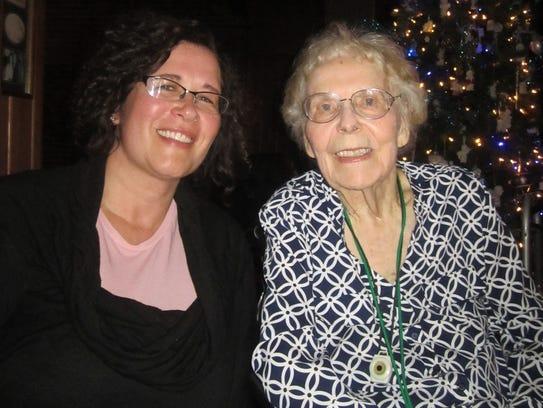 Mindy MacLaren, left, and Irene Gossin in December.