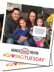 """Take and post an """"UNselfie"""" for Muncie Civic Theatre during #GivingTuesday."""