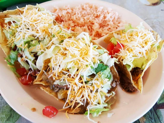 Tostados compuestas from Bravo's Cafe. The plate comes