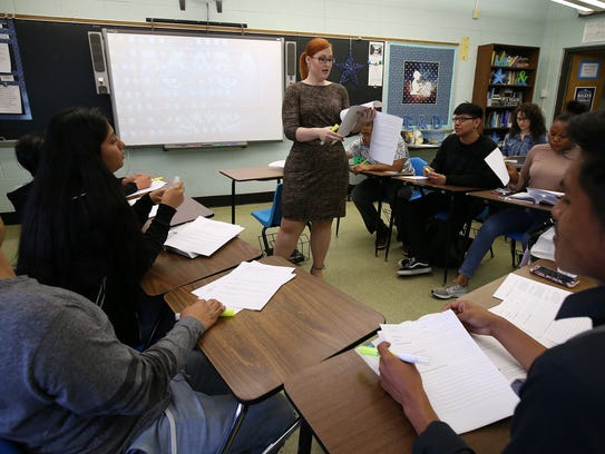 Patricia Gregory teaches English III at Lakewood High