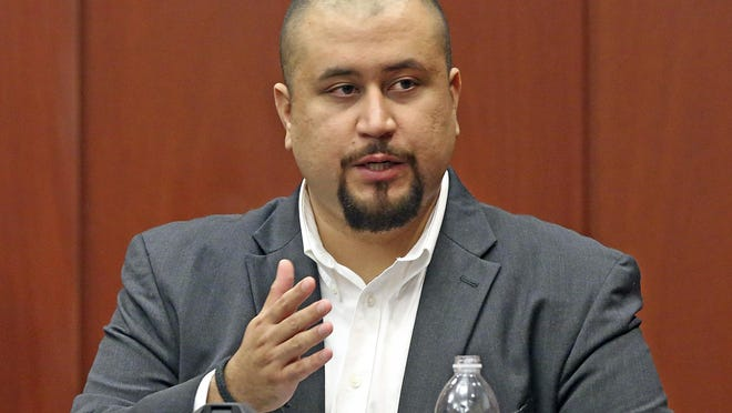 In this Sept. 13, 2016, file photo, George Zimmerman looks at the jury as he testifies in a Seminole County courtroom in Orlando, Fla. Zimmerman, the ex-neighborhood watch volunteer who killed an unarmed black teen in Florida in 2012 has been banned from the dating app Tinder.