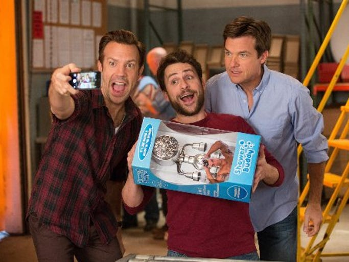 """Horrible Bosses 2"" starring (left) Jason Sudeikis,"