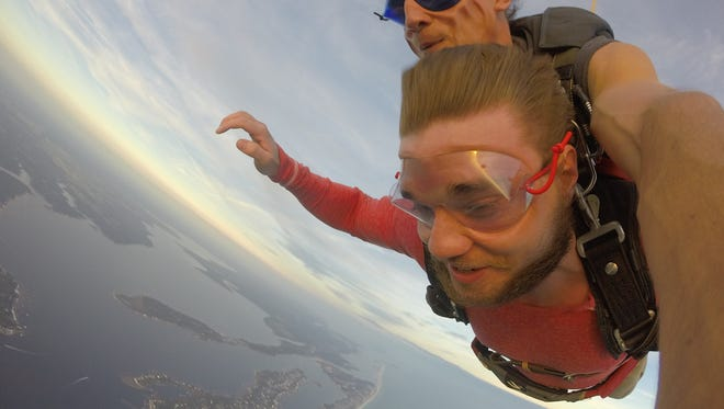 Skydiving over the Florida panhandle is one way to get a jump start on spring fun.