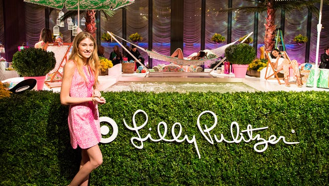 Lilly Pulitzer for Target launch event held in NYC's Bryant Park on April 15.
