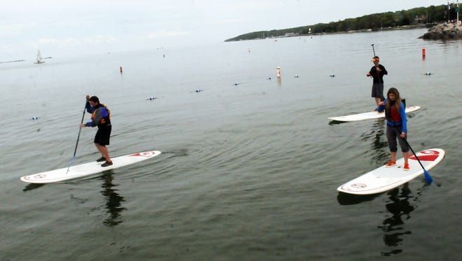 Stand-up paddleboards offer a versatile option for water-sport enthusiasts.