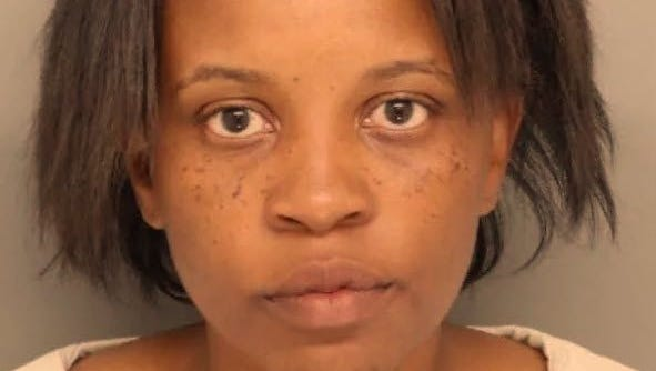 Police say Jaimyce McClinton left her seven-month-old in a GMC Yukon for more than 30 minutes while getting her hair done Tuesday in Colerain.