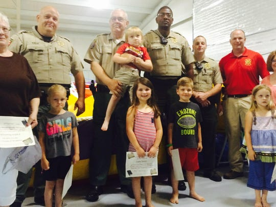 The Pre-K – 2nd Grade Wednesday Night Discipleship Class at Yorkville Cumberland Presbyterian Church turned their change into gift cards for the Gibson County Sheriff's Department, just to say, 'Thank you.'