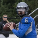 Faulkner quarterback Clayton Nicholas completed 59.7 percent of his passes for 3,120 yards and 30 touchdowns while throwing nine interceptions last season.