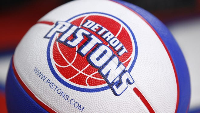 A Detroit Pistons basketball.