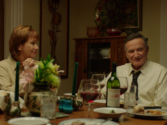 Robin Williams and Kathy Baker in a scene from  'Boulevard.'
