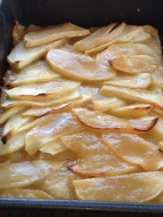 Salted caramel apple slices.